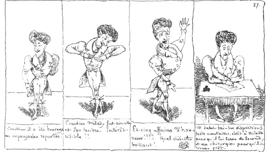 "From the 1833 edition of ""Histoire de monsieur Jabot"" by Rodolphe Töpffer. Public domain"